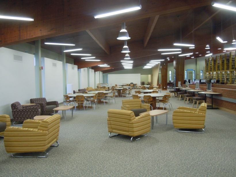 Newly renovated Learning Resources area--3rd floor of the library