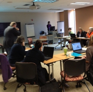 Participants hard at work in the Digital Media Literacy Institute