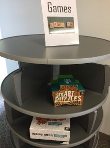 board game kiosk newtown campus library